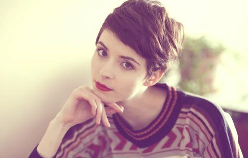 Pixie cuts for girls with round faces