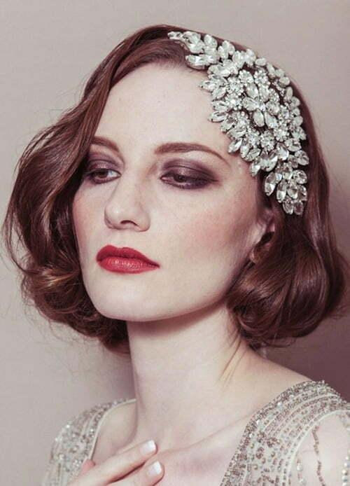 wedding headpiece for short hair