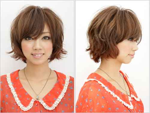 Asian short curly hairstyles