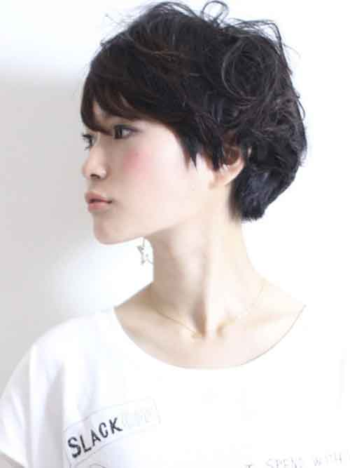 Asian short wavy hairstyles