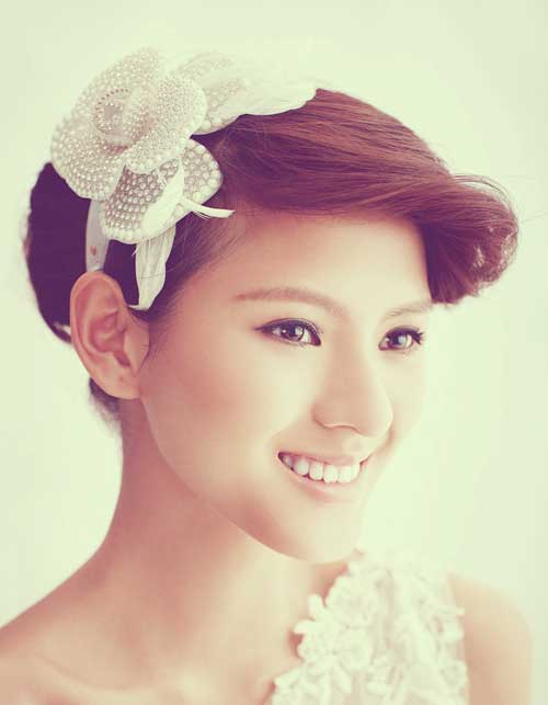 Asian wedding hairstyles for short hair