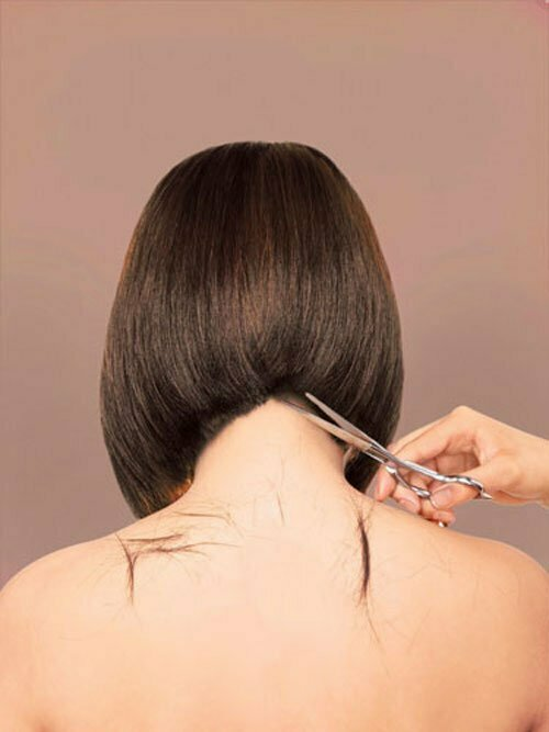 Back view of short bob hairstyles