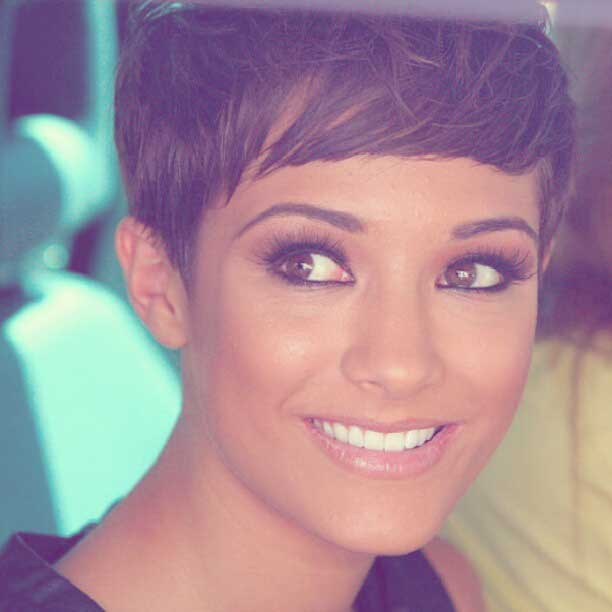 Frankie Sandford Pixie Hair