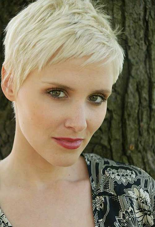 Blonde Pixie Cut Short Bangs