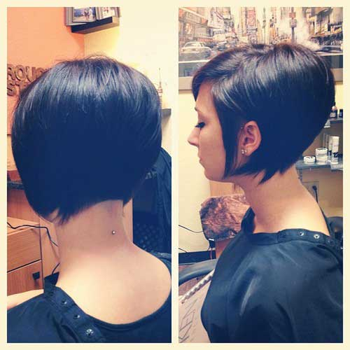 Black hair short bob haircuts