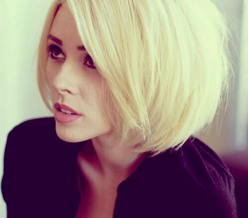 Blonde bob haircut picture