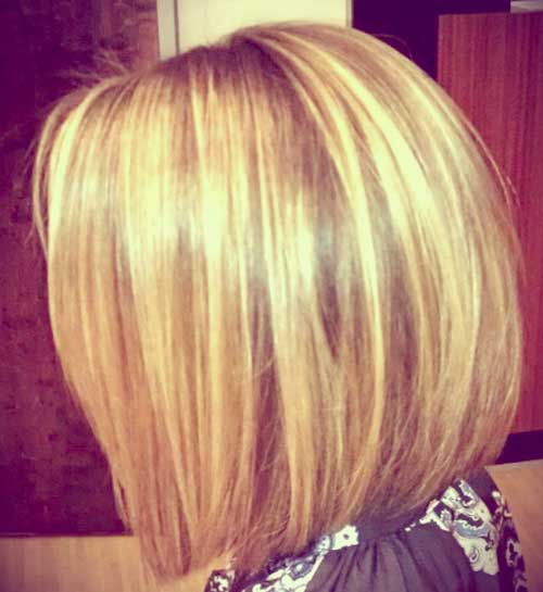 Short bob blonde highlights