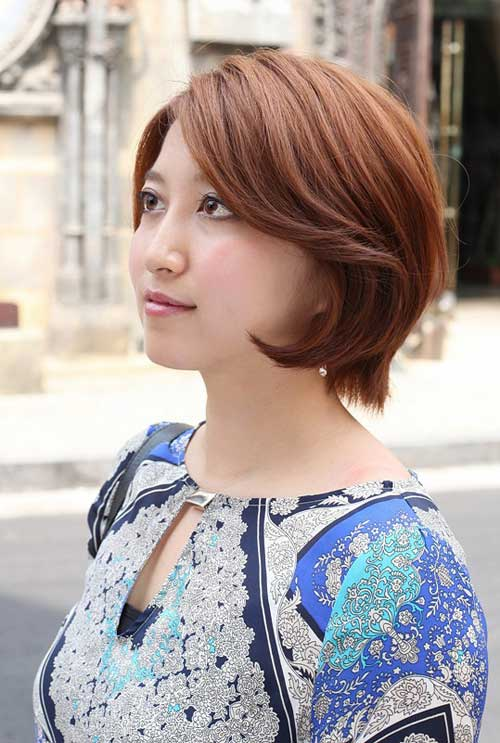 Short bob hairstyles for asian women