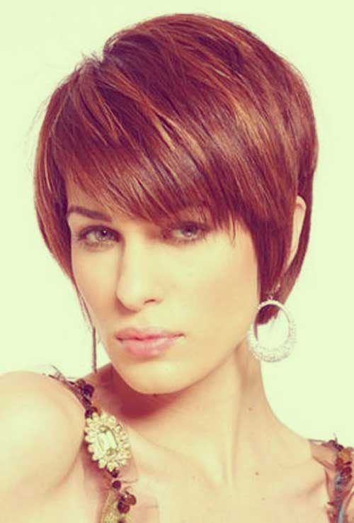 Short dark straight hairstyles