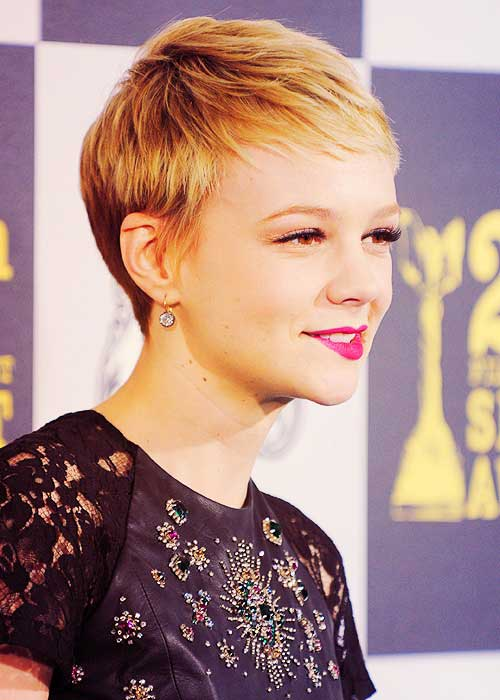 Carey Mulligan Blonde Pixie Hair