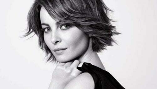 Short celebrity hairstyles for round faces