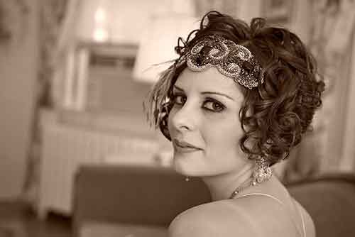 Curly short wedding hairstyles
