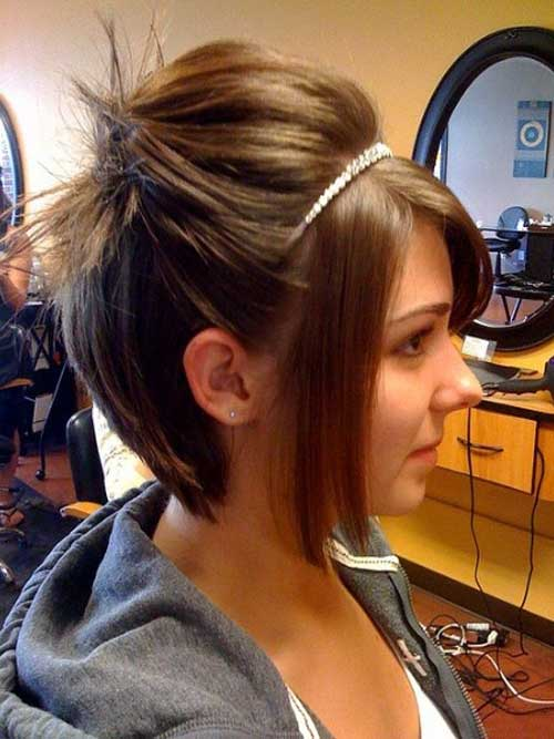 Cute updos short straight hair