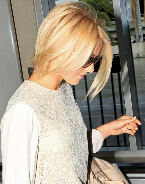 Celebrity short straight hairstyles