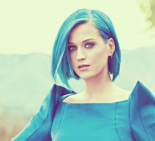 Celebrity blue hair