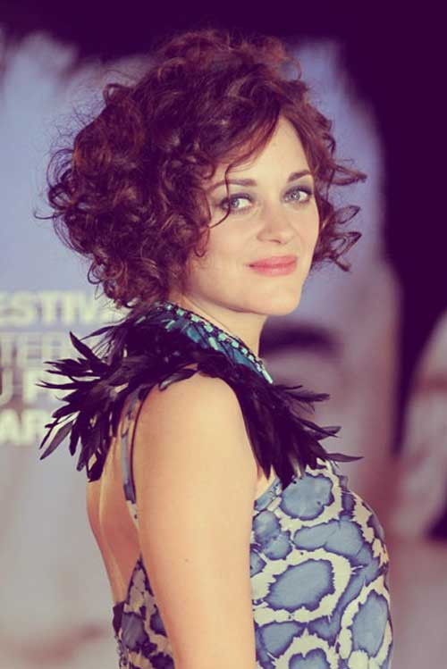 Celebrity super short curly hair