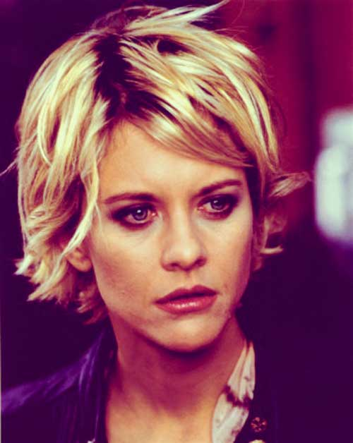 Meg Ryan short blonde haircut