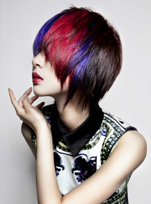 Short multi toned hair