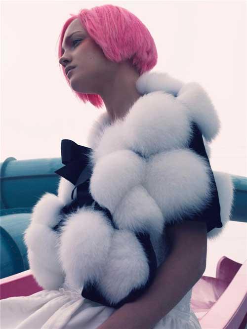 Bubblegum pink hair color