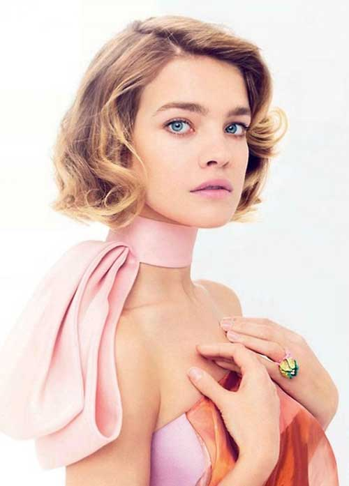 Natalia Vodianova short wavy hair