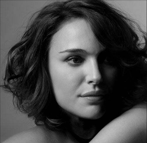 Natalie Portman short curly hair