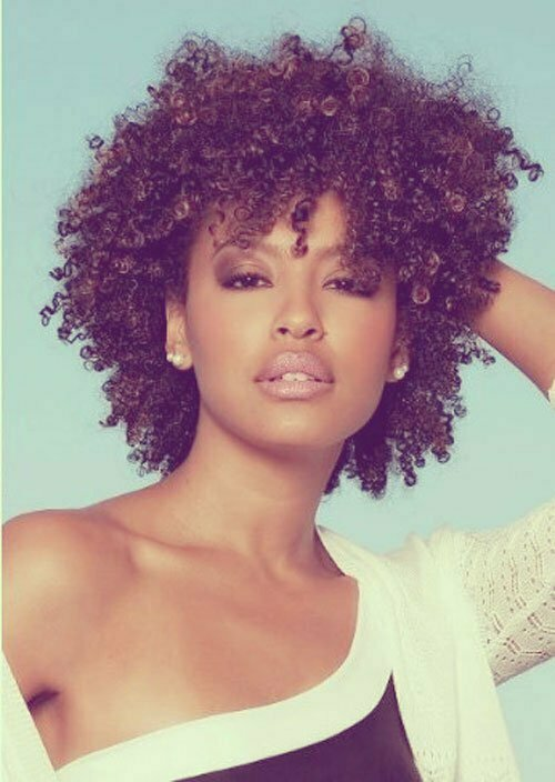 Natural curly hairstyles black women