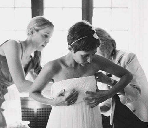 Pixie cut wedding hairstyles