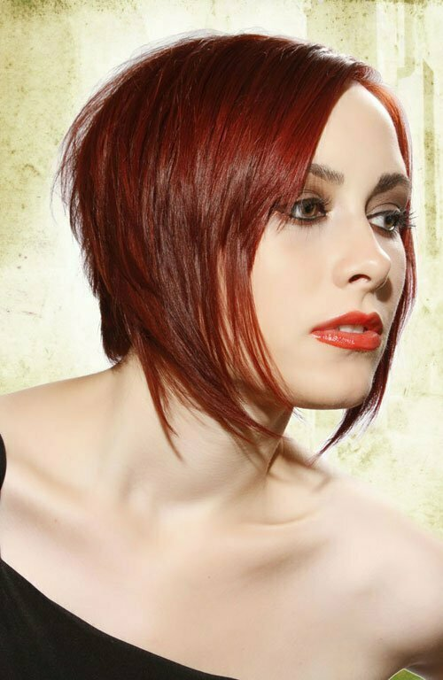 Short red bob hairstyles