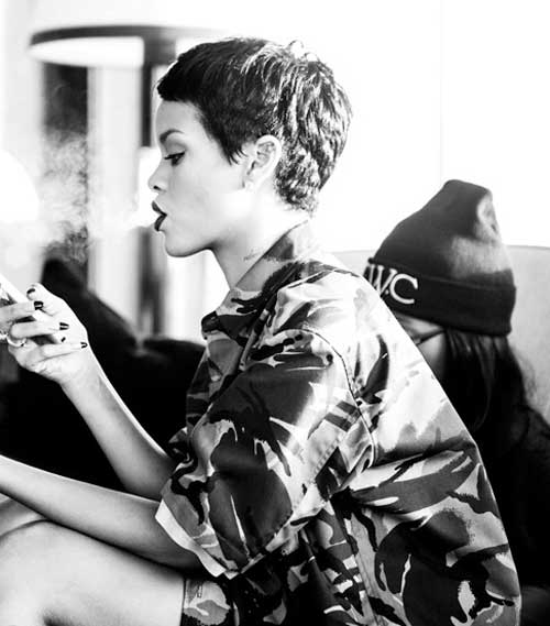 Rihanna very short hairstyles