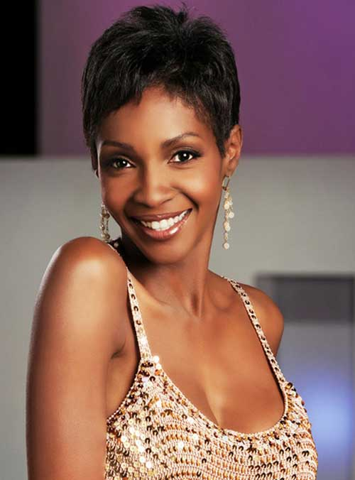 Black celebrities pixie cut