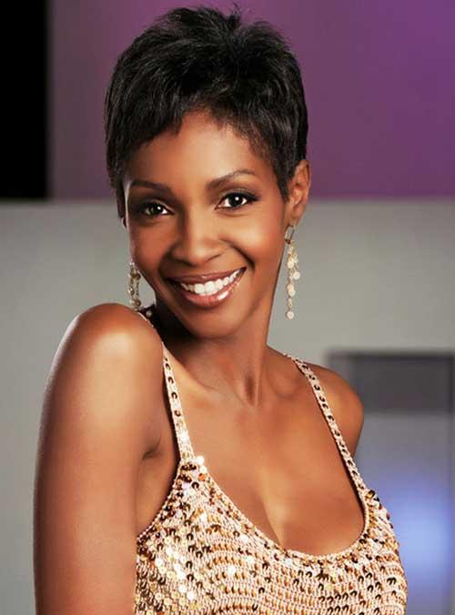 Black celebrities pixie cut