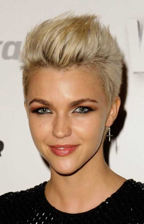 Ruby Rose short blonde hair
