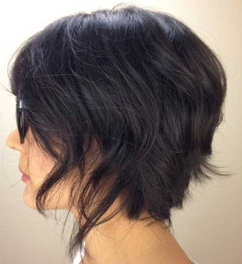 short bob haircuts for thick hair 1000 ideas about uneven bob on layer hair 1180 | Short Haircuts for Thick Hair 15