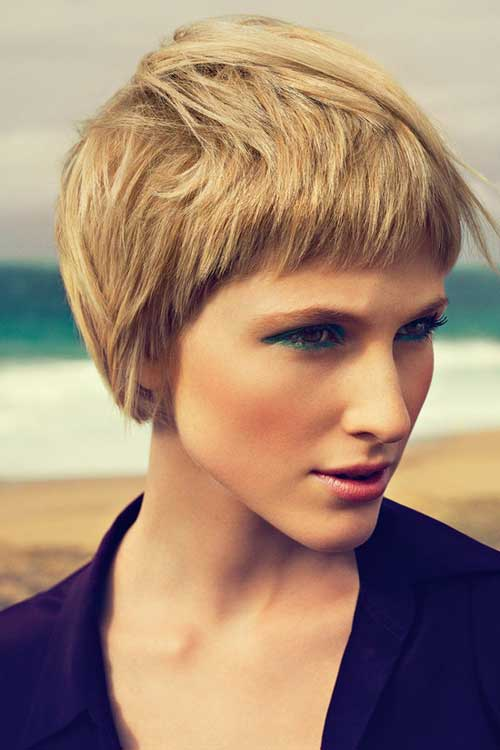 Short Haircuts for Thick Hair-23
