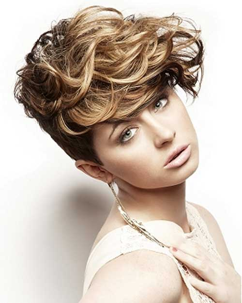 Short and curly hairstyles