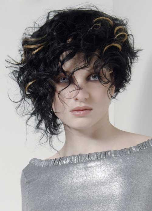 Short asymmetrical haircuts for curly hair