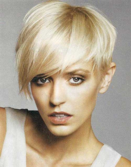Short blonde asymmetrical haircuts