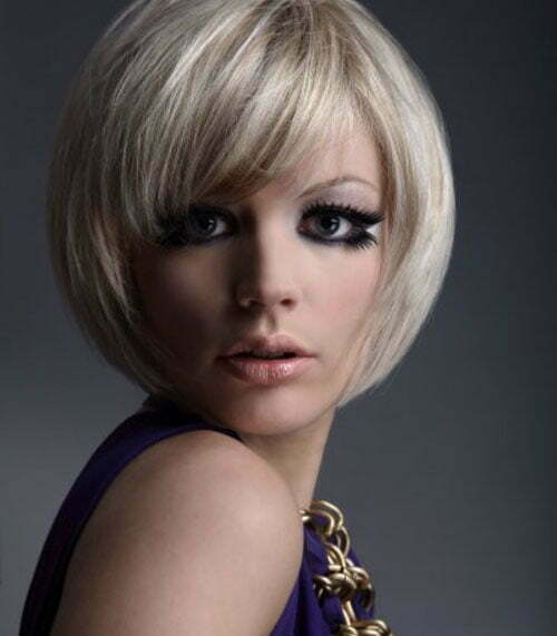 Blonde short bob hairstyles