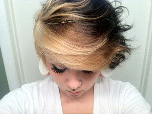 Short blonde brown hair color