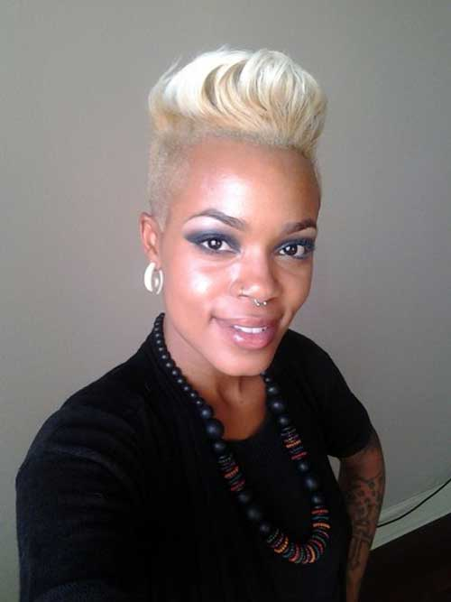Short blonde hair for black women