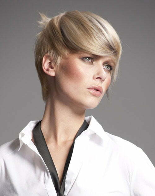 Short blonde highlights hairstyles