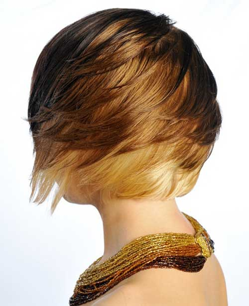 Short brown blonde hairstyles