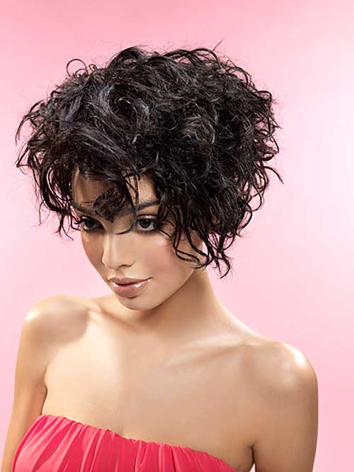 Short curly haircuts for black women 2013