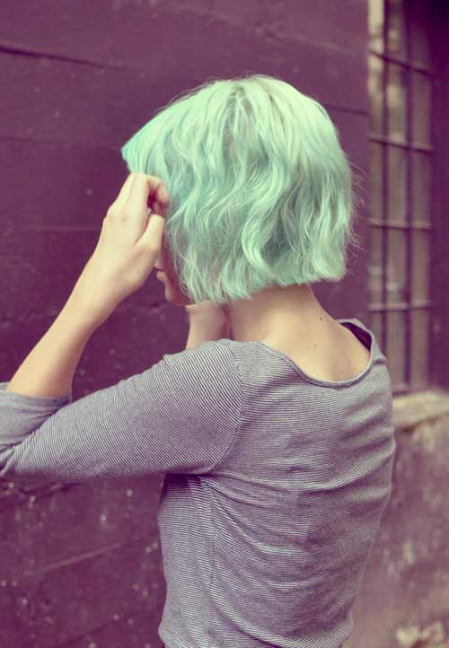 Green hairstyles girls