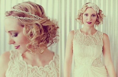 Short bridal headpieces