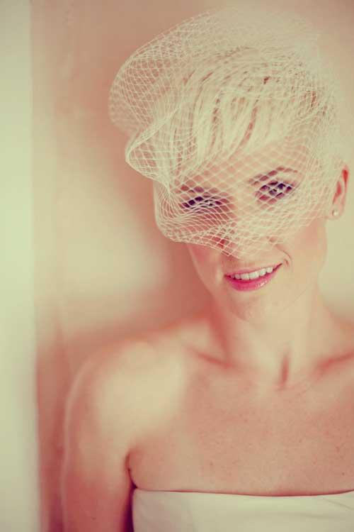 Short hair bridesmaid