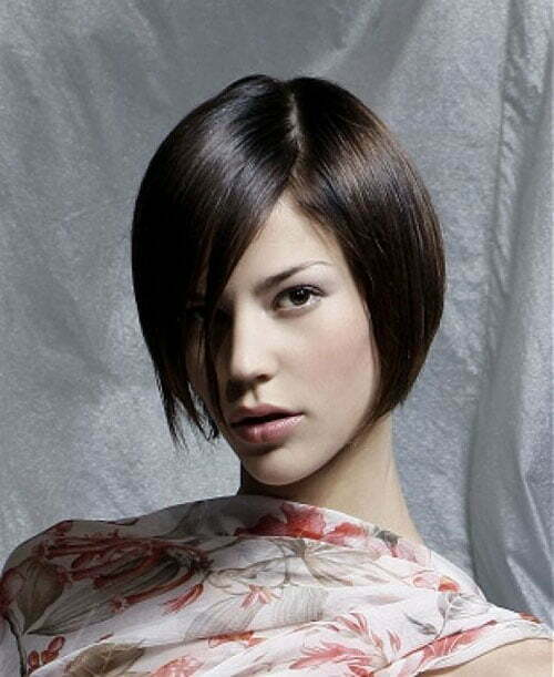 Short haircuts thick straight hair