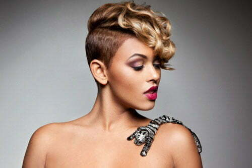 Short Black Hairstyles Shaved Sides Women