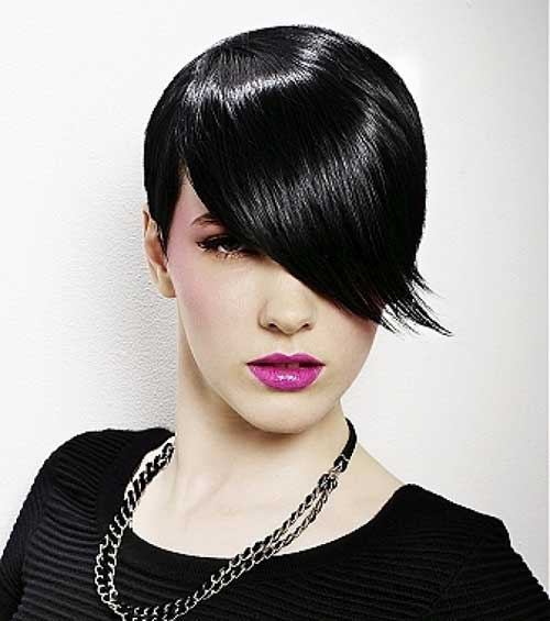 Short jet black hair styles