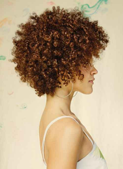 Short kinky curly hairstyles pictures
